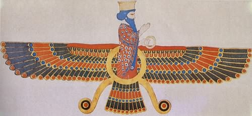 De Zoroastre au platonisme Symbole%20Ahoura%20Mazda